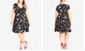 City Chic Trendy Plus Size Floral-Print Dress