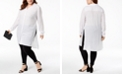 INC International Concepts INC Plus Size Long Linen Tunic Shirt, Created for Macy's