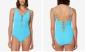 Bleu by Rod Beattie Cutout One-Piece Swimsuit