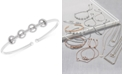 Wrapped Diamond Circle Flexie Bangle Bracelet (1/6 ct. t.w.) in Sterling Silver, Created for Macy's