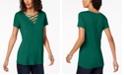 INC International Concepts INC Lattice-Neck Top, Created for Macy's