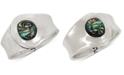 Robert Lee Morris Soho Silver-Tone Stone Cuff Bracelet
