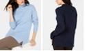 Karen Scott Mock-Neck Shimmer Sweater, Created for Macy's