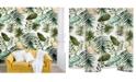 Deny Designs Marta Barragan Camarasa Painting Watercolor Leaves 8'x8' Wall Mural