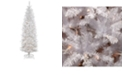 National Tree Company National Tree 6 .5' Kingswood White Fir Hinged Pencil Tree with 250 Clear Lights