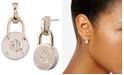 Lauren Ralph Lauren Gold-Tone Logo Padlock Drop Earrings
