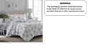 Laura Ashley Twin Keighley Pastel Purple Quilt Set