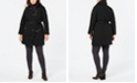 Michael Kors Plus Size Hooded Belted Jacket, Created for Macy's