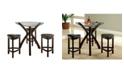 Furniture of America Jubert 4-Piece Pub Set