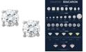 Macy's Certified Diamond Stud Earrings in Platinum
