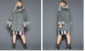 The Fur Vault Plus Size Fox-Fur-Trim Wool Coat