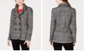 Maison Jules Plaid Peacoat Jacket, Created for Macy's