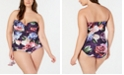 La Blanca Bloomfield Bandeau Tankini & Hipster Bikini Bottoms