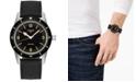 Longines Men's Swiss Automatic Skin Diver Black Rubber Strap Watch 42mm