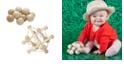 Redbox Manhattan Toy Natural Skwish Rattle And Baby Beads Motor Skill Development Set