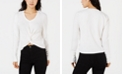 XOXO Juniors' Twist-Front Cropped Sweater