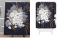 Deny Designs Iveta Abolina Floral Midnight Shower Curtain