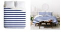 Deny Designs Holli Zollinger Nautical Stripe Queen Duvet Set