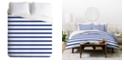 Deny Designs Holli Zollinger Nautical Stripe Queen Duvet Set