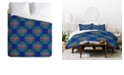 Deny Designs Holli Zollinger Cross Hatch Blue King Duvet Set