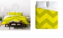 Deny Designs Holli Zollinger Chevron Yellow Twin Duvet Set