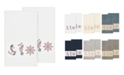 Linum Home Easton 2-Pc. Embellished Bath Towel Set