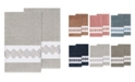Linum Home Noah 2-Pc. Embellished Bath Towel Set
