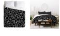 Deny Designs Heather Dutton On The Quad Black King Duvet Set