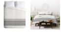 Deny Designs Holli Zollinger French Linen Charcoal Tassel King Duvet Set