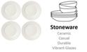 Kate Spade new york Set of 4 Sculpt Stripe Cream Salad/Accent Plates