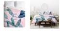 Deny Designs Iveta Abolina Peaches N Cream E Queen Duvet Set