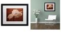 """Trademark Global Cora Niele 'White Poppy' Matted Framed Art, 16"""" x 20"""""""