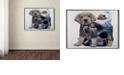 "Trademark Global Jenny Newland 'Puppy Tails' Canvas Art, 35"" x 47"""