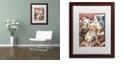 "Trademark Global Jenny Newland 'Puppy Pals' Matted Framed Art, 16"" x 20"""