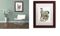 "Trademark Global Jenny Newland 'Pony Tails' Matted Framed Art, 11"" x 14"""