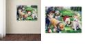 "Trademark Global Jenny Newland 'Golfing Puppies' Canvas Art, 35"" x 47"""