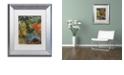 "Trademark Global Nick Bantock 'Elephants' Matted Framed Art, 11"" x 14"""