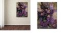 "Trademark Global Nick Bantock 'Purple Botanical' Canvas Art, 14"" x 19"""