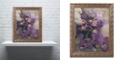 "Trademark Global Nick Bantock 'Purple Botanical' Ornate Framed Art, 16"" x 20"""