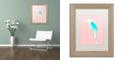 """Trademark Global Robert Farkas 'Summer Parrot' Matted Framed Art, 11"""" x 14"""""""
