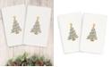 Linum Home CLOSEOUT!  Christmas Tree 100% Turkish Cotton 2-Pc. Hand Towel Set