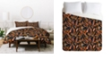 Deny Designs Holli Zollinger Anthology Of Pattern Elle Bird Of Paradise Dark Twin Duvet Set