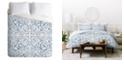 Deny Designs Iveta Abolina Indigo Maze King Duvet Set
