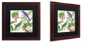"Trademark Global Color Bakery 'Walking On Air I' Matted Framed Art, 16"" x 16"""