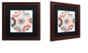 "Trademark Global Color Bakery 'Umbrella Skies I' Matted Framed Art, 16"" x 16"""