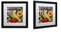 "Trademark Global Color Bakery 'Vermont Farms Vii' Matted Framed Art, 16"" x 16"""