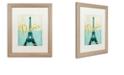 "Trademark Global Color Bakery 'Paris City Of Light' Matted Framed Art, 16"" x 20"""