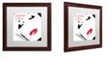 "Trademark Global Color Bakery 'Femme Den I' Matted Framed Art, 16"" x 16"""