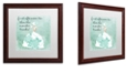 "Trademark Global Color Bakery 'Southern Belles One' Matted Framed Art, 16"" x 16"""