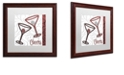 """Trademark Global Color Bakery 'Cheers Ii' Matted Framed Art, 16"""" x 16"""""""